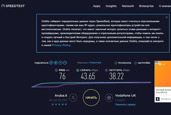 Скорость vpn сервиса speed test vpngogo