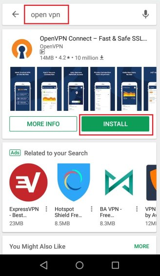 Set up VPN on Android. Step 2