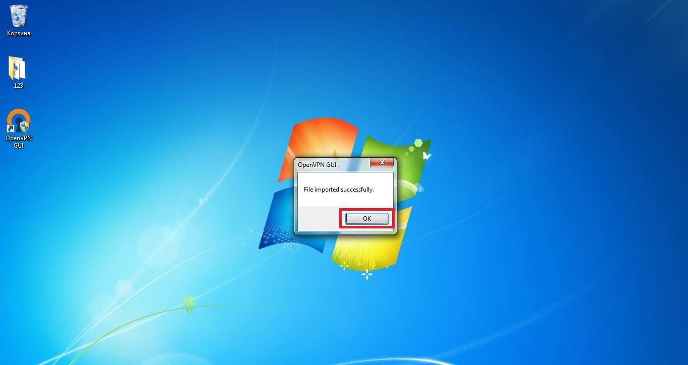 Set up VPN on Windows 7. Step 12