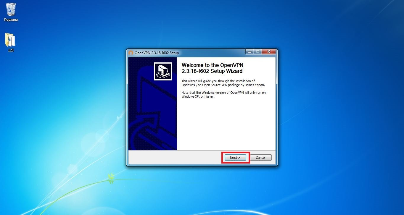 Set up VPN on Windows 7. Step 2